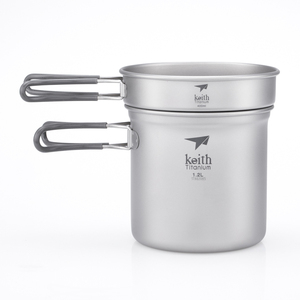 Ti6013 2件套钛锅 2-Piece Titanium pot and Pan Cook Set