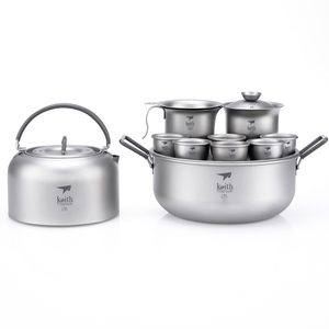 Ti3900 钛功夫茶具 Titanium Tea Set