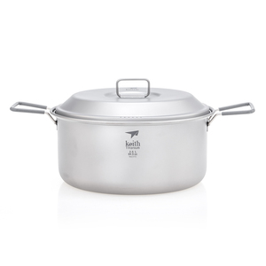 Ti6018 2件套钛锅    2-Piece Titanium pot and Pan Cook Set