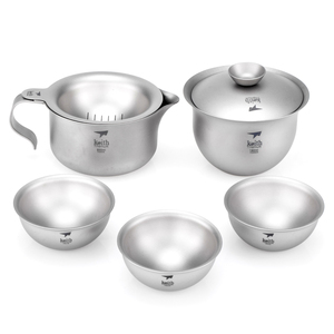 Ti3910 钛功夫茶具 Titanium Tea Set