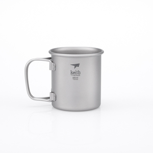 Ti3200 钛折叠单层杯 Single-Wall Titanium Mug with Folding Handle