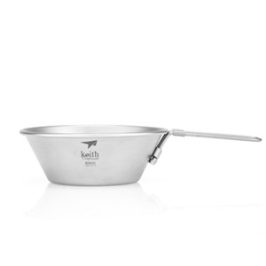 Ti5320 折叠钛碗 Titanium Bowl with Folding Handle